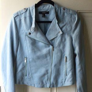 Forever 21 Baby Blue Moto Jacket